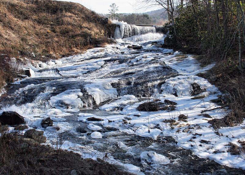 Frozen waterfall in Suches, GA