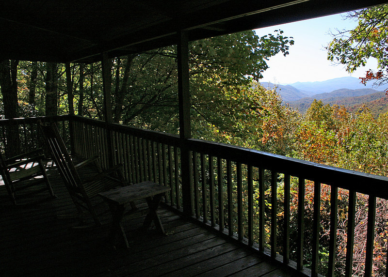 The deck and view