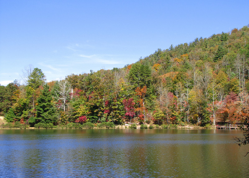 The lake and beautiful fall colors