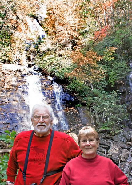 Mike and Susan at Anna Ruby Falls