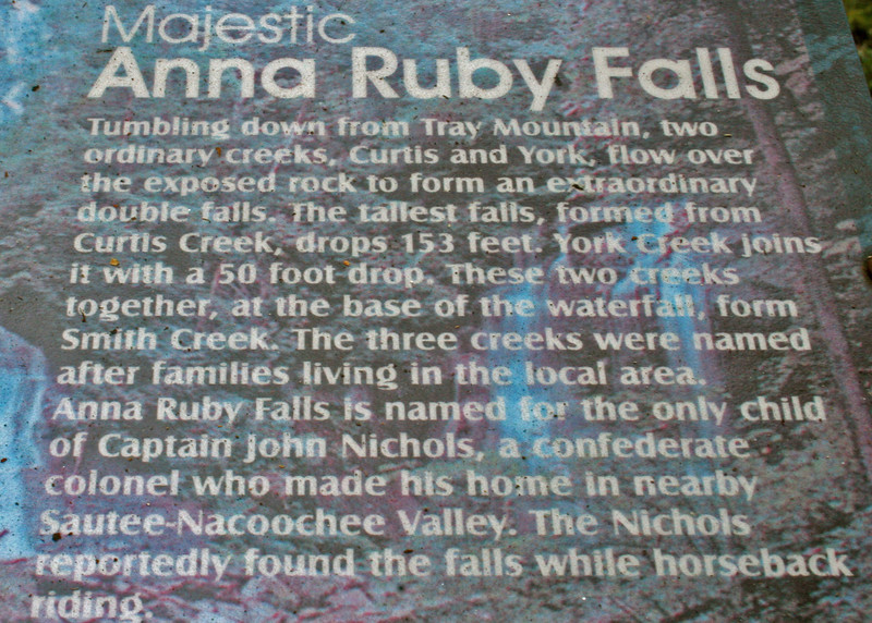 Information on Anna Ruby Falls