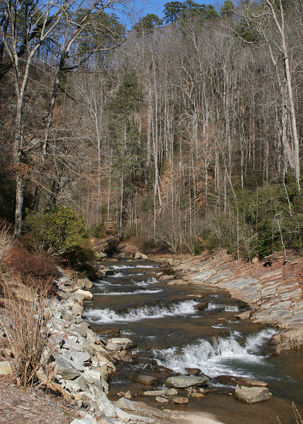 The little stream along the path to Toccoa Falls.