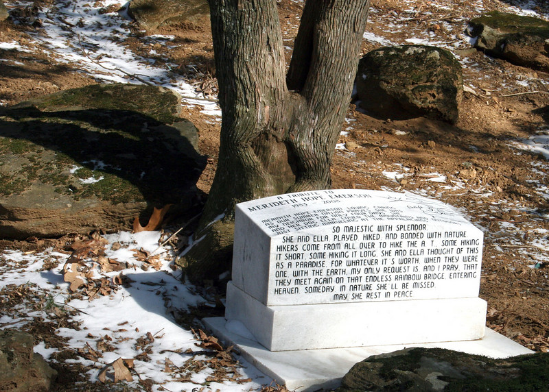 Monument for the Blood Mountain victim
