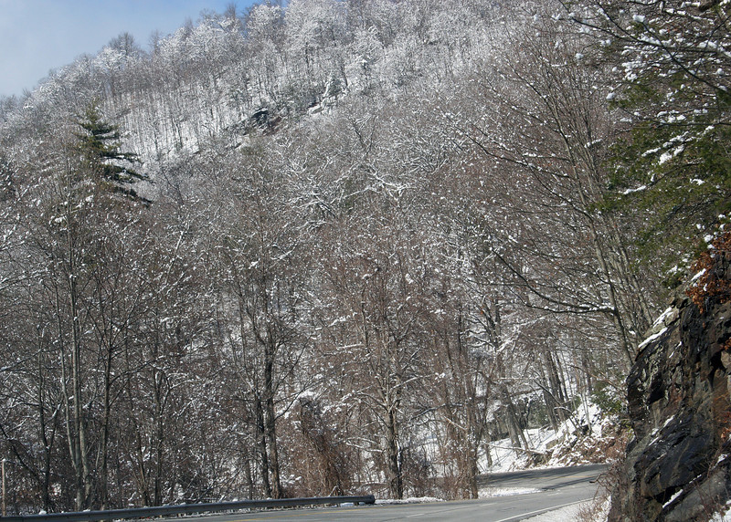 3/3/10 - On US 19 just before Blood Mountain Store and Neels Gap on the way back from Augusta.  Notice what a difference a day makes!