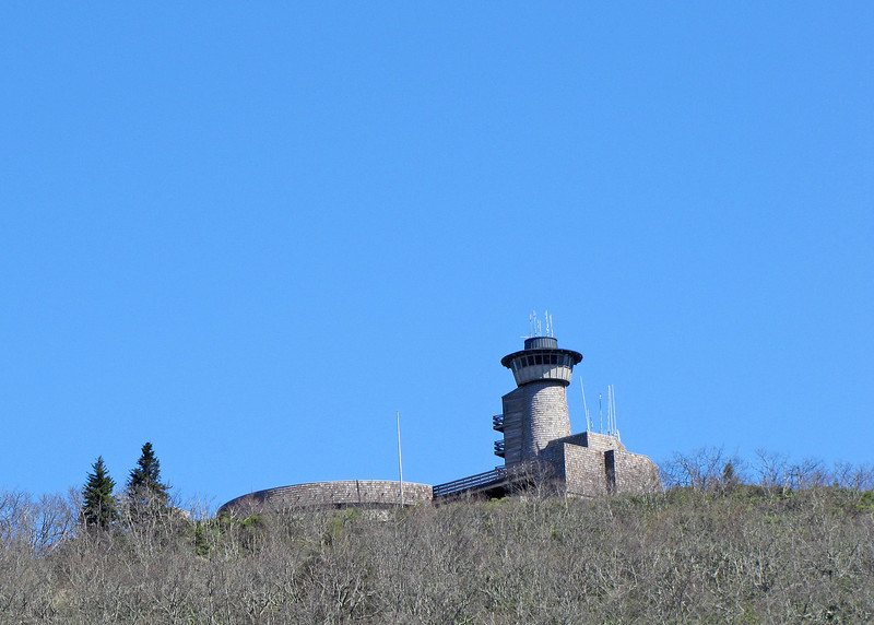 The observation tower at the top of Brasstown Bald.