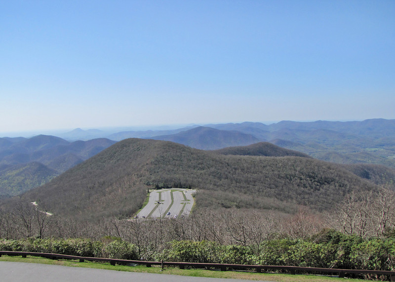 Parking lot from top of Brasstown Bald
