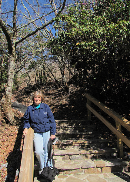Susan along trail