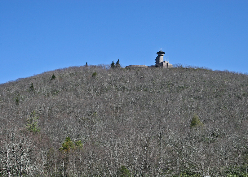Brasstown Bald from the parking lot.