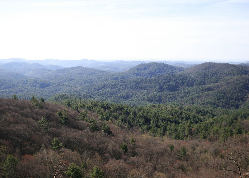Driving back from Cashiers, NC we stopped at an overlook of Blue Valley