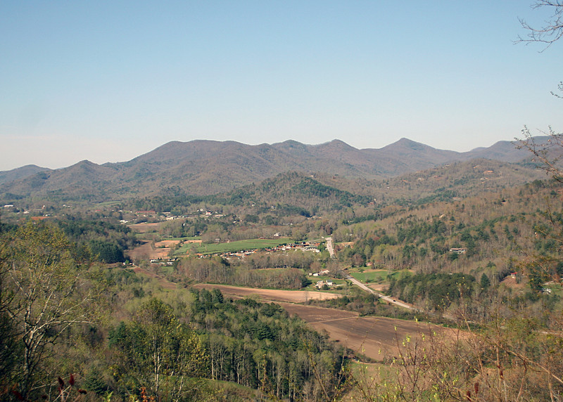 Driving back from Cashiers, NC we stopped at an overlook of Sky Valley