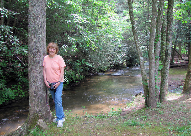 Susan along the creek