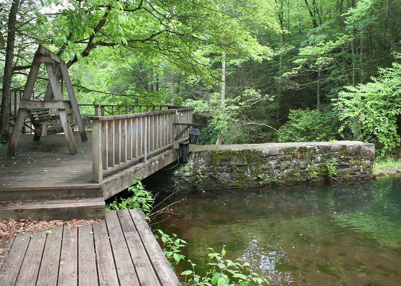 Deck by swimming hole