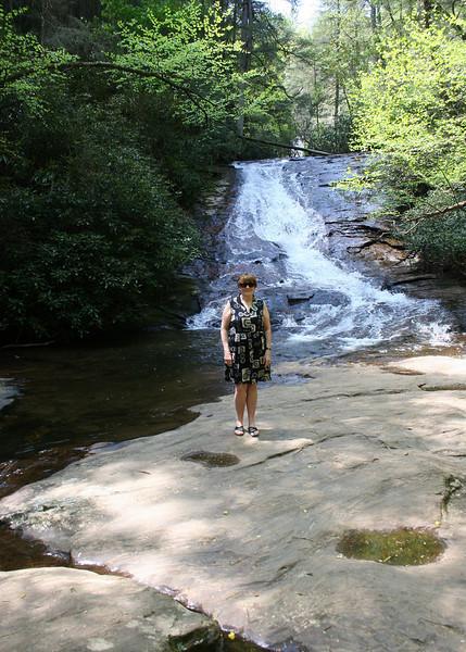 Susan at Helton Creek Falls