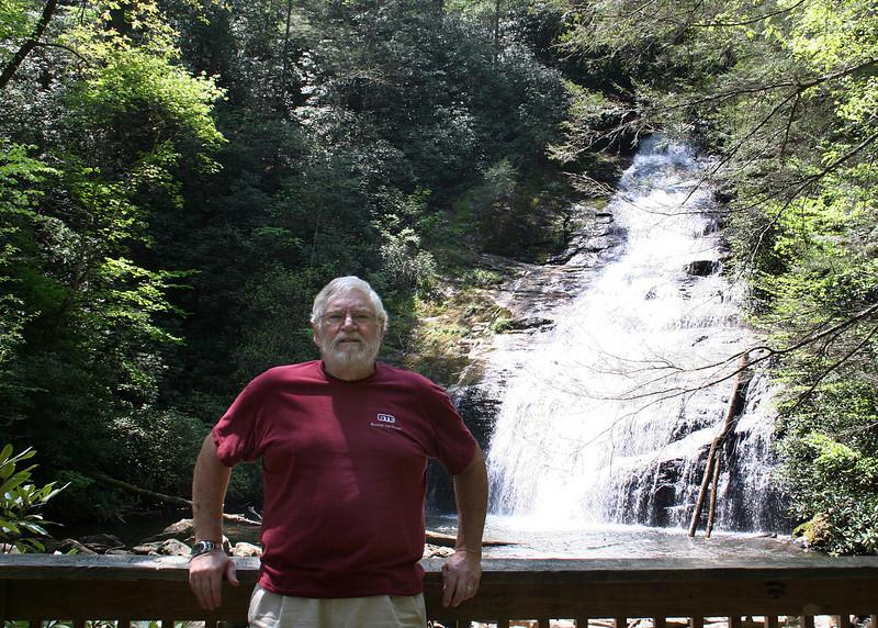 Mike at Helton Creek Falls