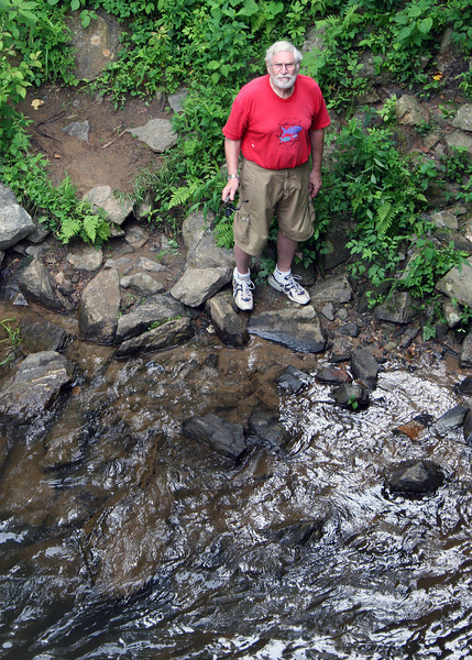 We stopped at another spot along the Toccoa River; here is Mike checking it out for fishing