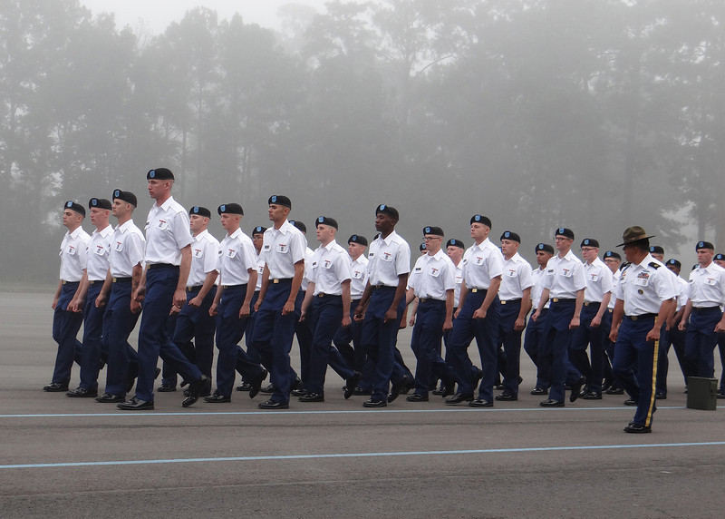 Ft. Benning - The troops marching in through the morning fog.