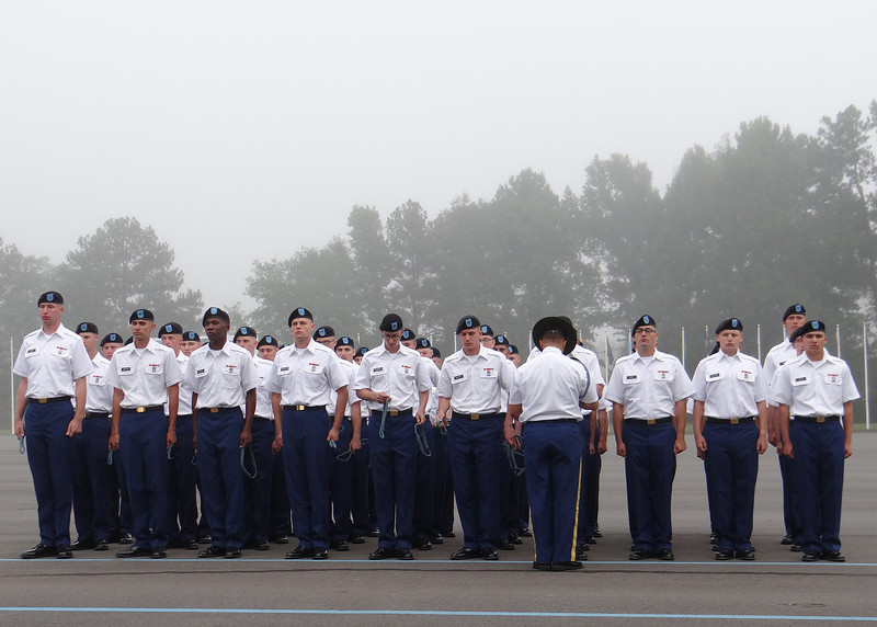 Ft. Benning - The troop receiving their Blue Cord