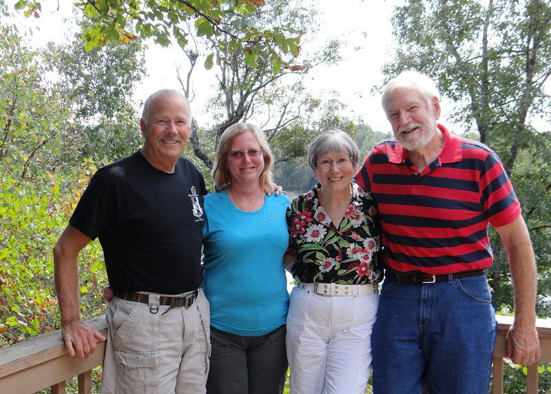 Susan's brother, Bob, his wife Donna, Susan and Mike