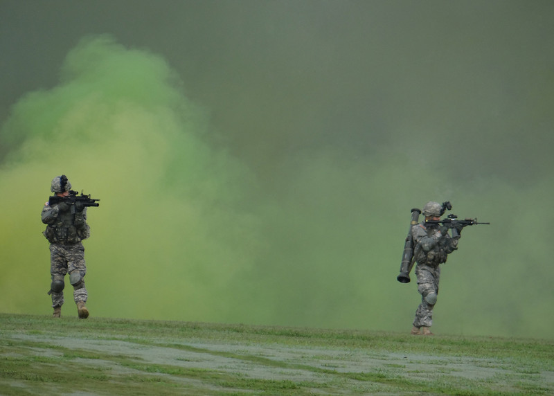 Infantry demonstration