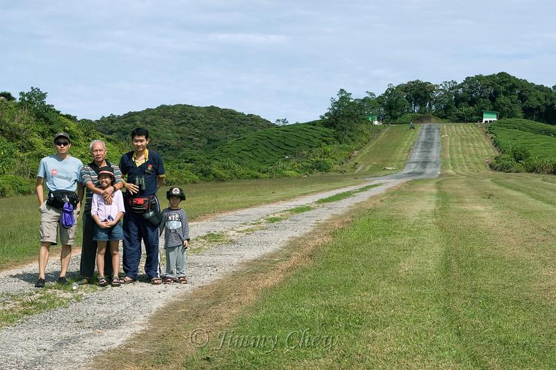 The airstrip.