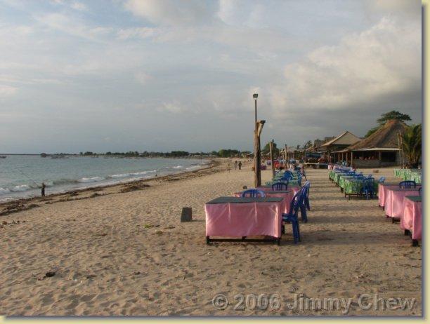 Jimbaran Beach.