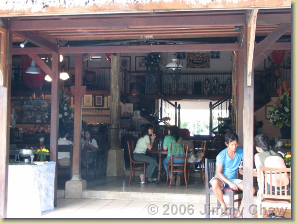Made's Warung -- a popular tourist restaurant.