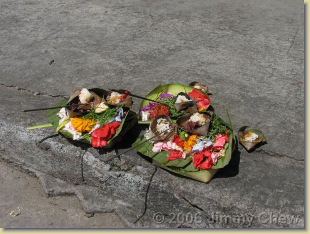 Offerings by the road.