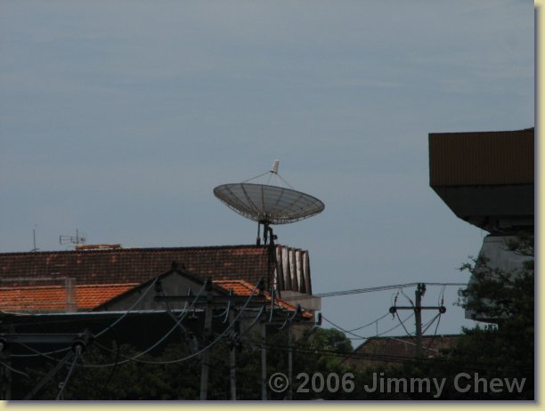 A satelite dish -- common sight in Indonesia.