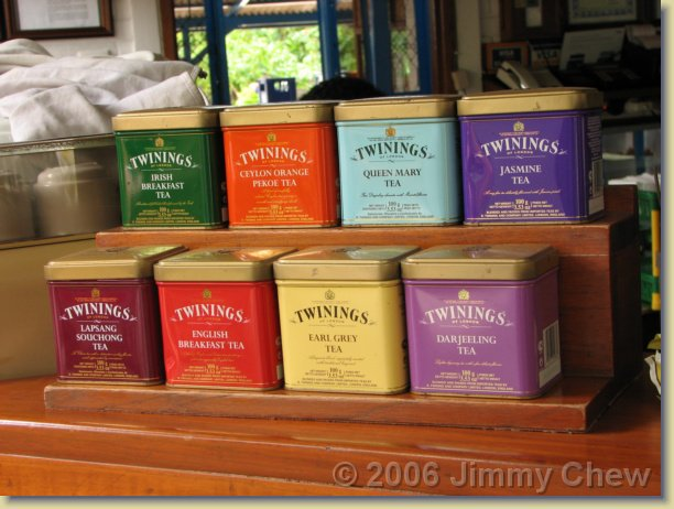 Varieties of tea.