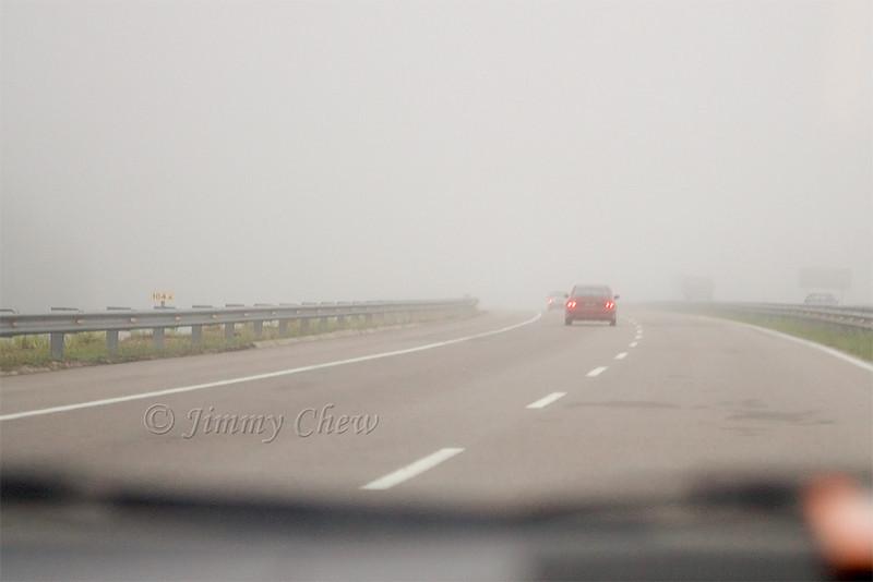 A foggy trip early morning. Nice!