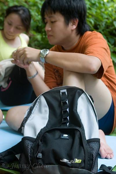 Mervyn with his Lafuma daypack.