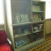 Bookshelf in the living cum dining hall.
