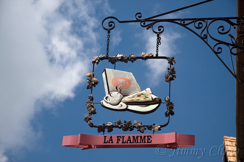 La Flamme - a pizza place.
