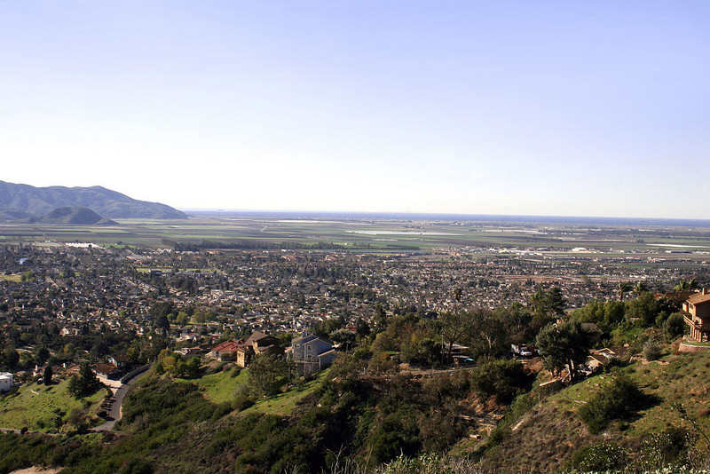 Looking over Camarillo, CA with the Pacific Ocean in the background