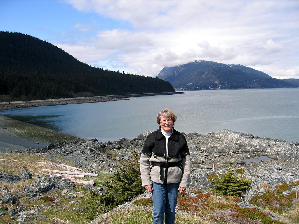 Susan at Battery Point and Kelgaya Bay
