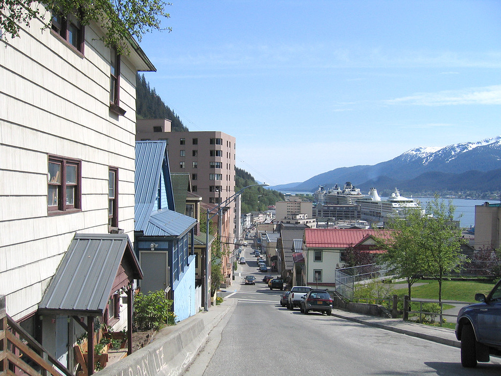 View looking towards harbor from Franklin and 6th street