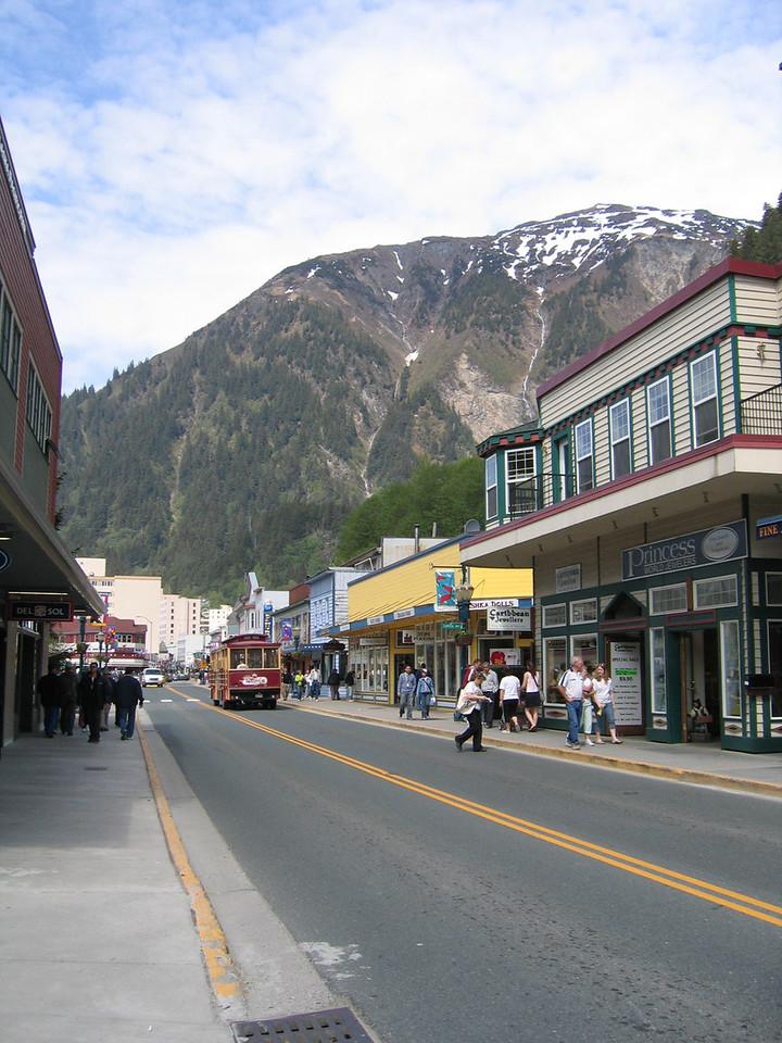 Shopping down by the cruise ships in Juneau, AK
