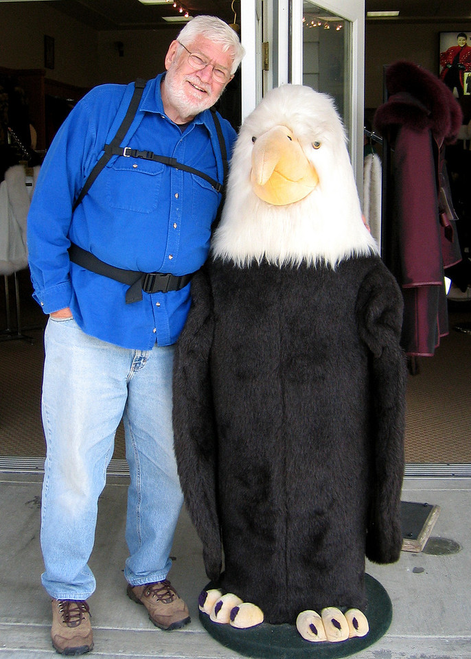 Mike and his eagle friend