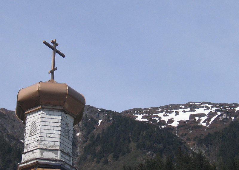 Cross on top of Nicholas Russian Church