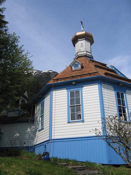 Nicholas Russian Church, buit in 1894, it is the oldest original Russian Orthodox Church in Alaska