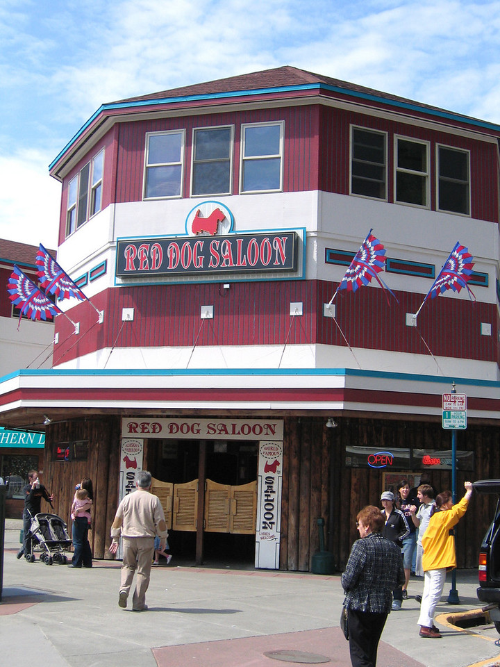 The famous Red Dog Saloon although I am not sure what they are famous for except they are said to have Wyatt Earpsl gun from Nome