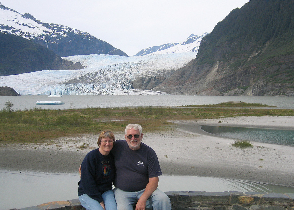 Susan and Mike and Mendenhall Glacier