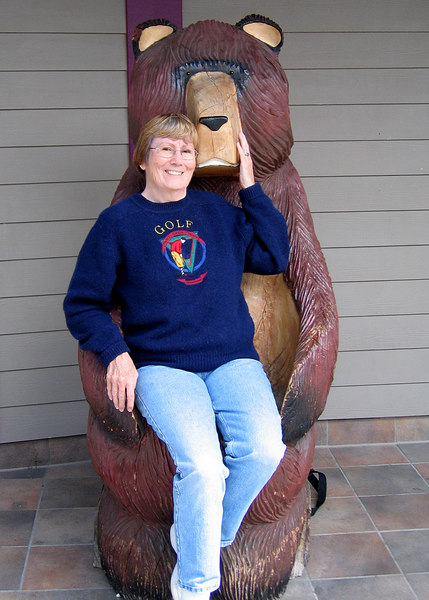 Susan and her bear friend