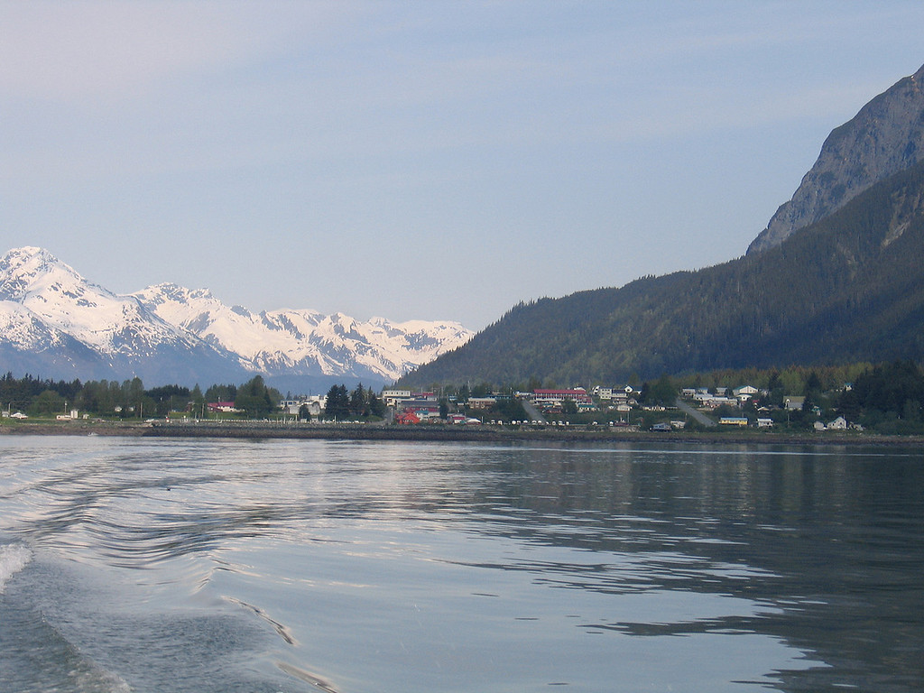 Leaving Haines, AK behind on our way to Juneau, AK