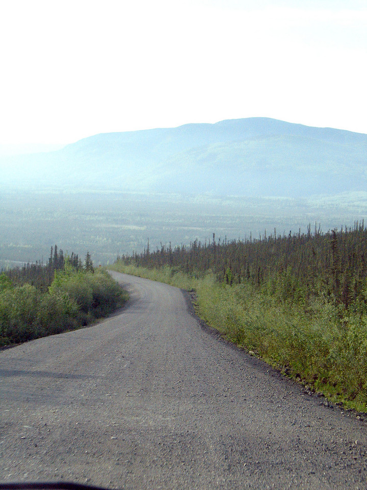 The Dalton Highway.  All the haze is from the Nenana fire.