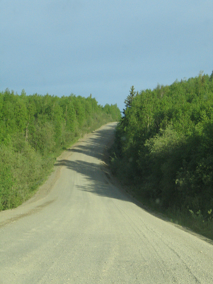 The Dalton Highway.  It doesn't look bad here but it was very rough and bumpy