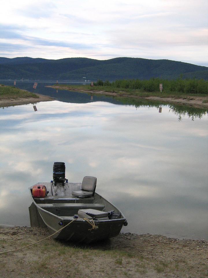 Harding Lake at 6:45 in the morning
