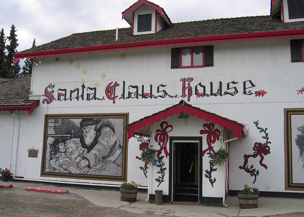 Front of Santa Claus House, North Pole, AK