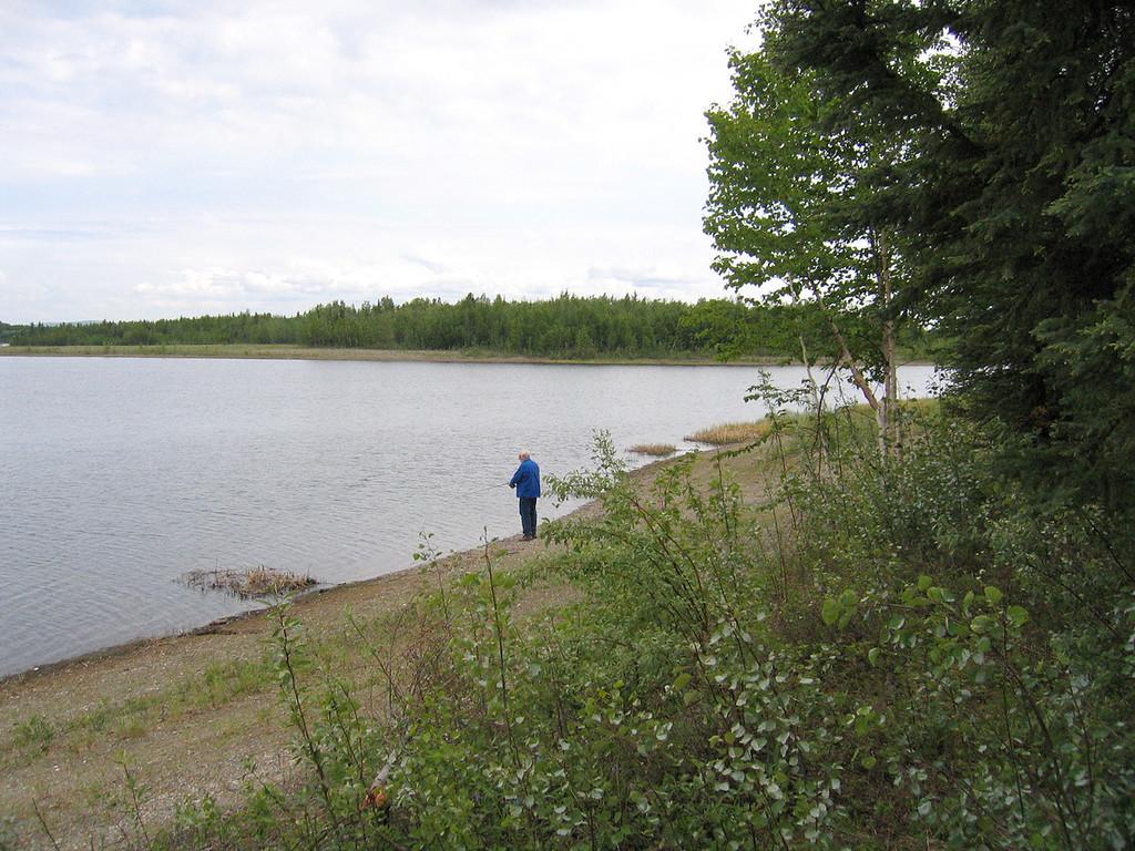 Mike fishing at Chena River Lake Recreational Area