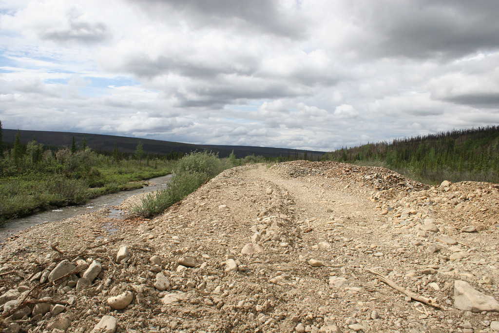 Nome Creek and tailings road